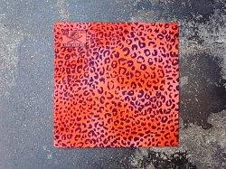 画像1: FVK   LEOPARD BANDANA RED