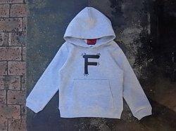 """画像1: FVK   """"F"""" kids HOODIE Grey"""